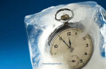 Image of a clock freezing time at the perfect age