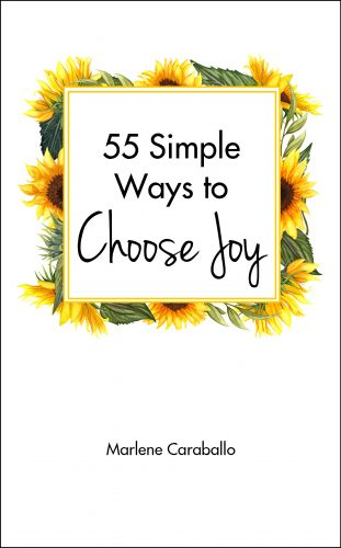 book entitled 55 Simple Ways to Find Joy