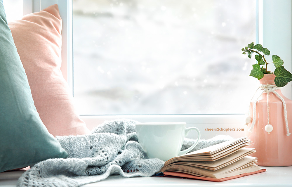 Image for Cheers 2 Chapter 2 Setting Healthy Boundaries and Making Yourself a Priority page image of window with pillows blankets a book and mug of tea