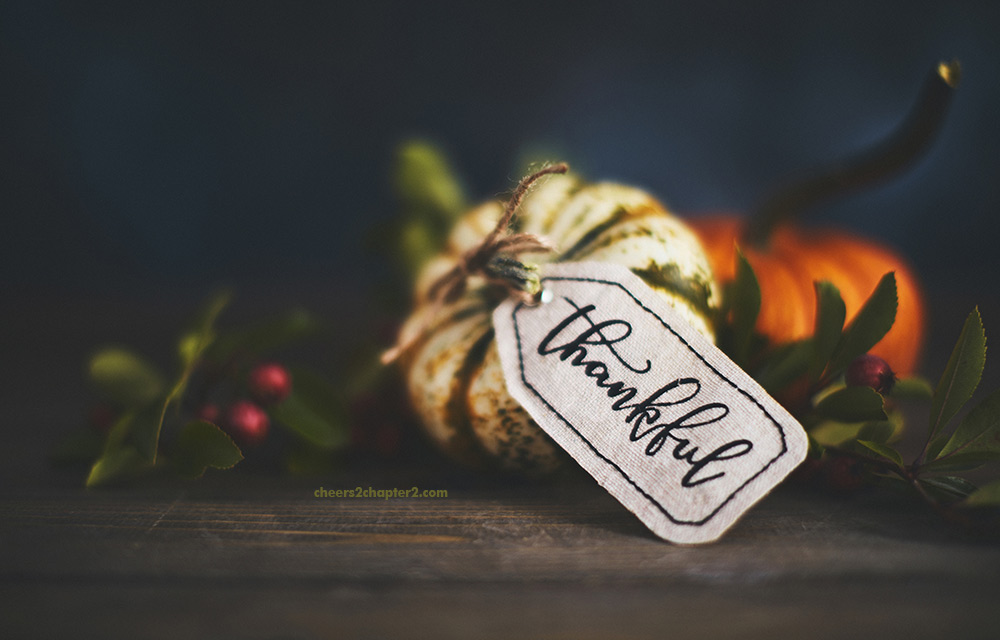 Photo of mini pumpkin with Thankful on tag used for Using Gratitude Attitude to Find Balance and Peace this Holiday Season page