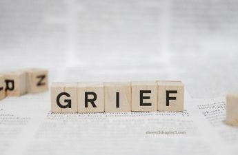 Image of scrabble tiles spelling the word Grief for How to Manage Grief and Loss page