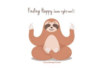 Cute Sloth in Yoga Lotus Pose for Cheers 2 Chapter 2 Learn to Be Happy Right Now page