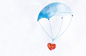 parachute with heart floating for midlife is not what you planned