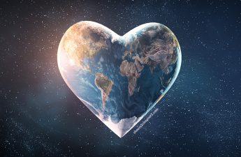 Image of heart-shaped planet earth depicting Cheers to Chapter Two Thoughtful Acts of Kindness During These Trying Times Can Make All the Difference