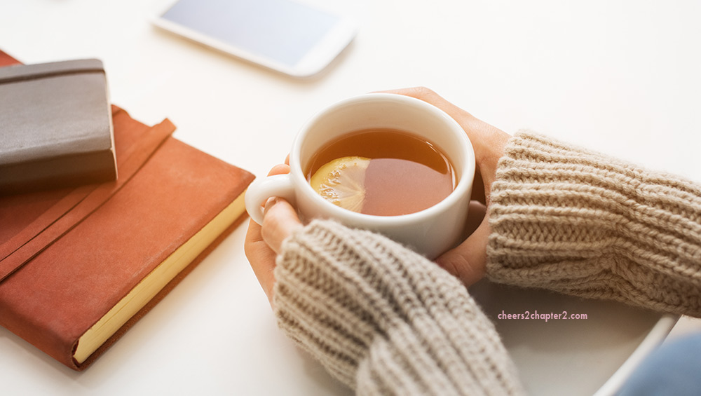 Woman drinking tea for Lower Anxiety Naturally – 7 Ways to Reduce Anxious Feelings page